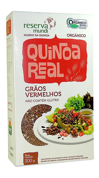 Grãos de quinoa vermelhos.