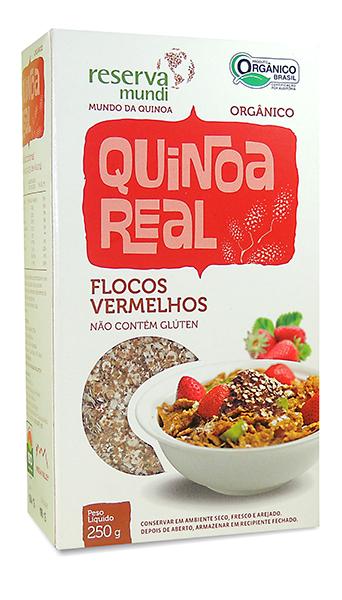 Flocos vermelhos de quinoa real