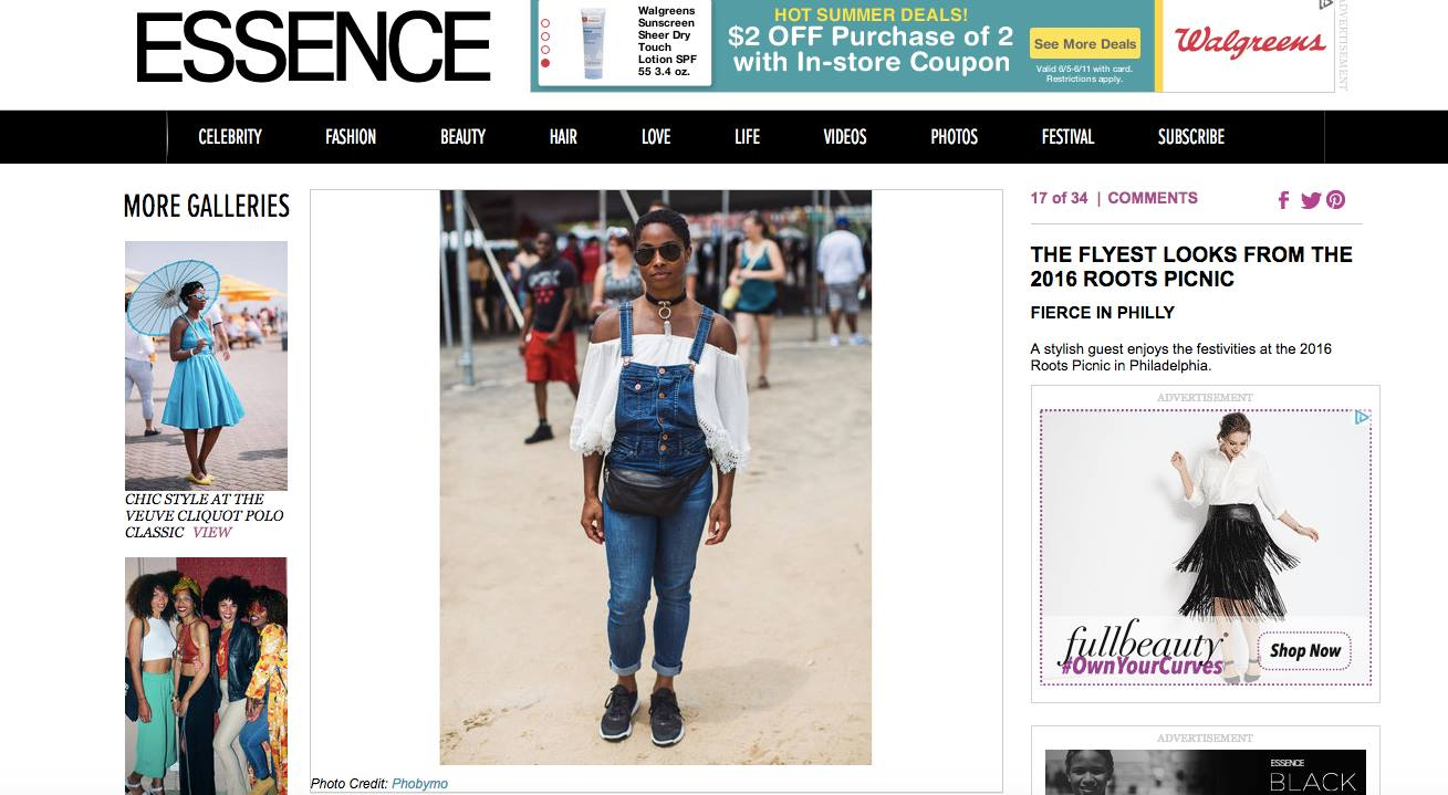 Essence    Check out the most stylish attendees at this year's Roots Picnic in Philadelphia, Pennsylvania.