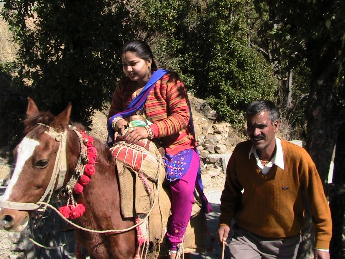 Horse and rider on Dr. Jensen's trip to India.