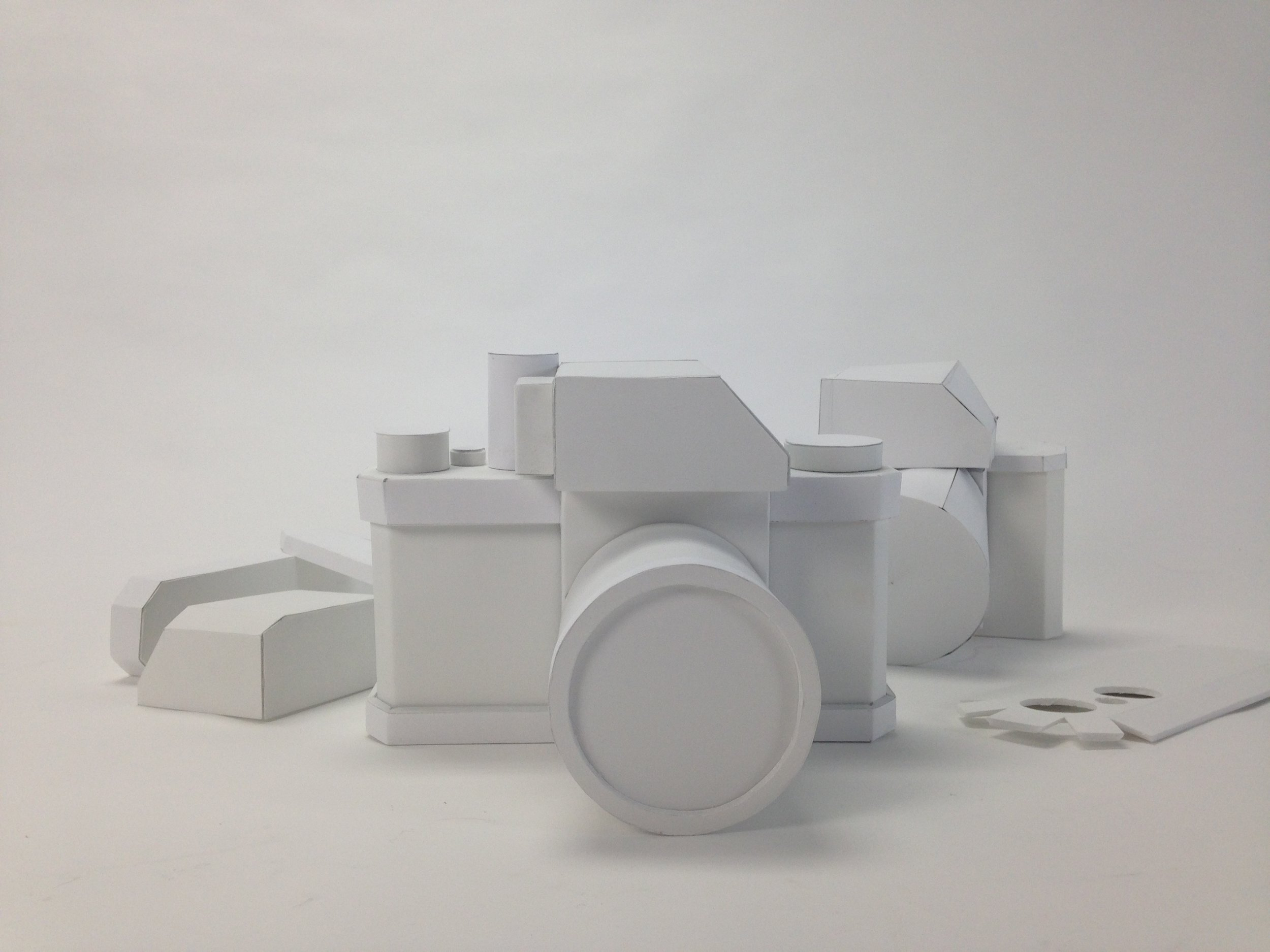 Model Making of a Camera /   foamcore