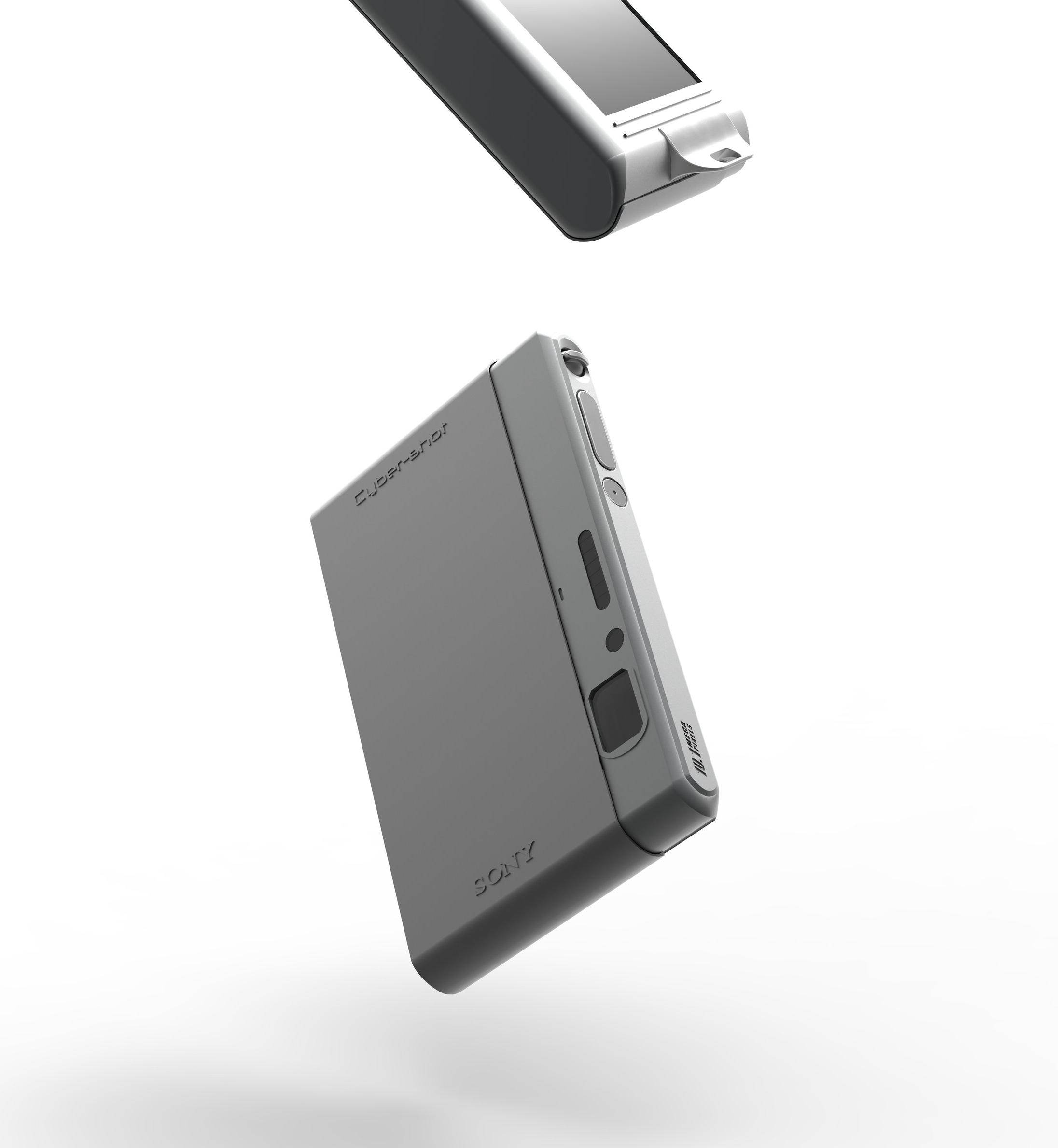 Rendering of Sony Cyborshot DSC-T77 /   Solidworks, Keyshot