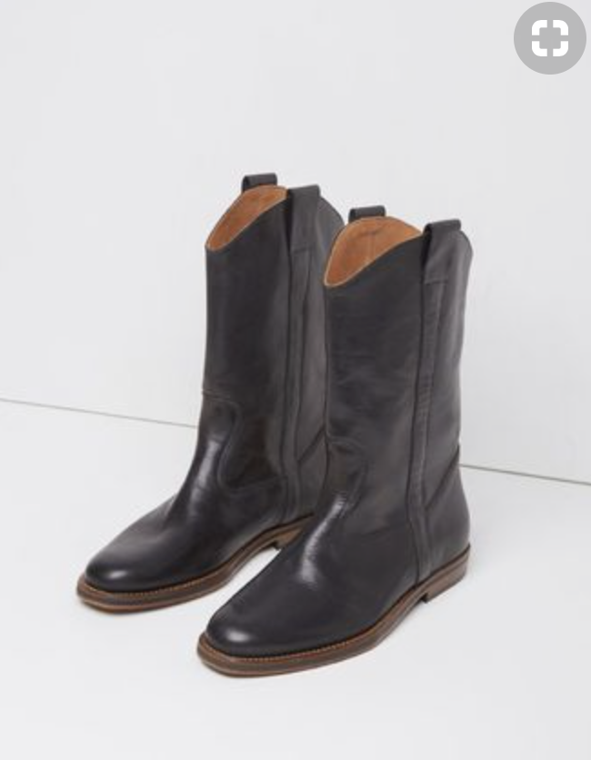 Cowgirl boots are a staple of mine. I like that these are more of a riding boot, which I usually don't go for. But these, are modern and cool without being stale.
