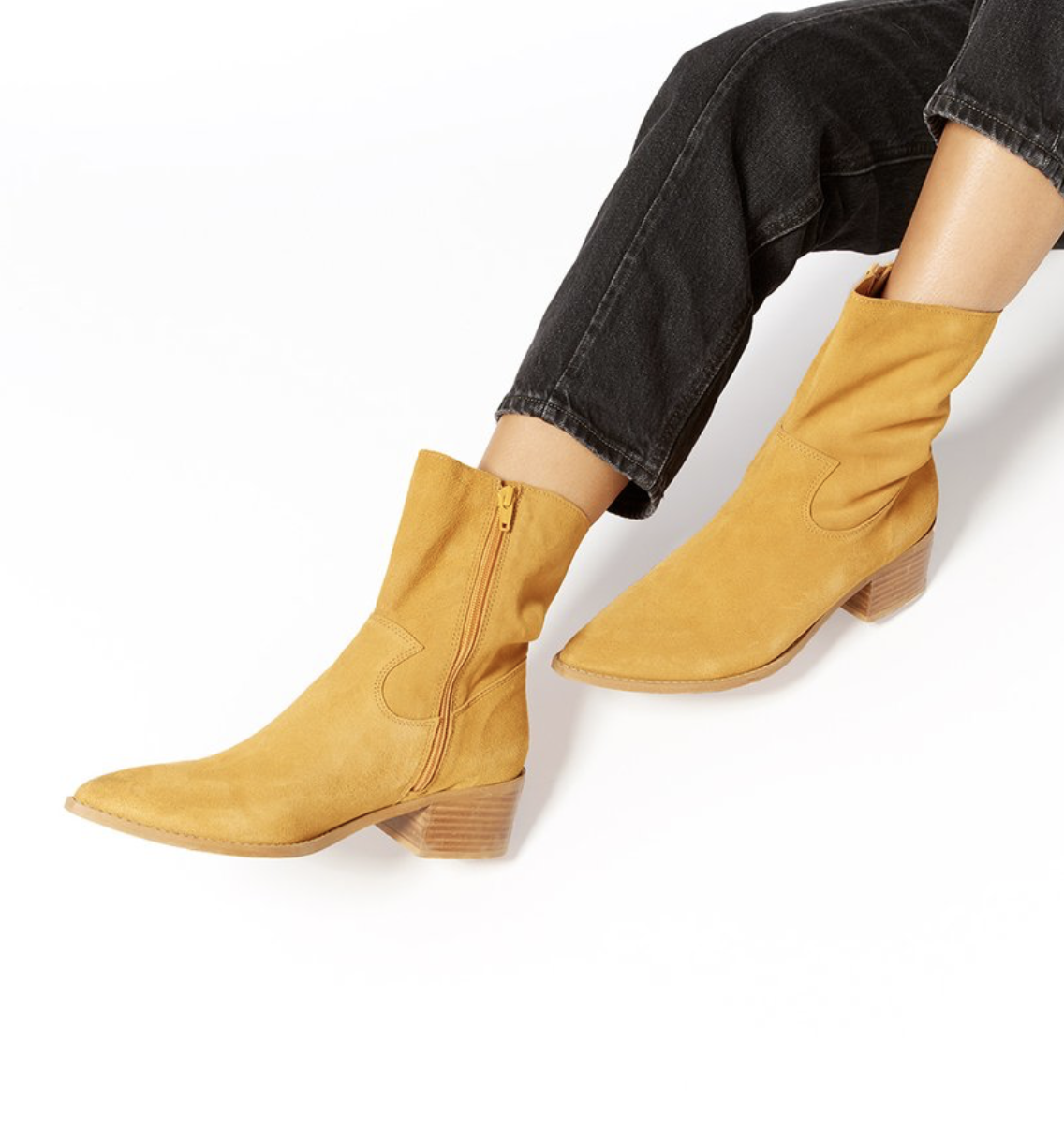 Nice to meet you, perfect suede cowgirl boot!