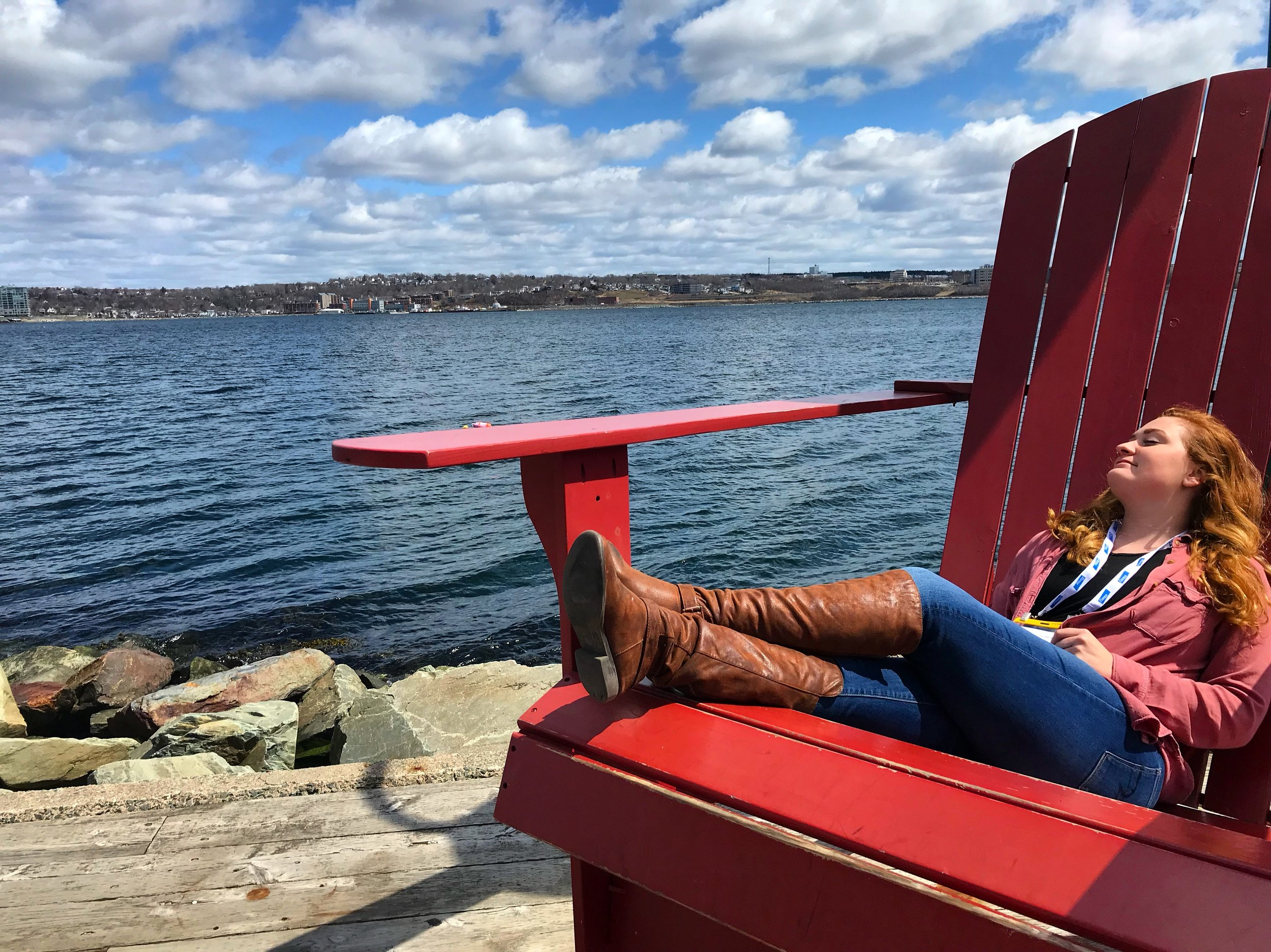 Enjoying my breaks on the Halifax Waterfront!