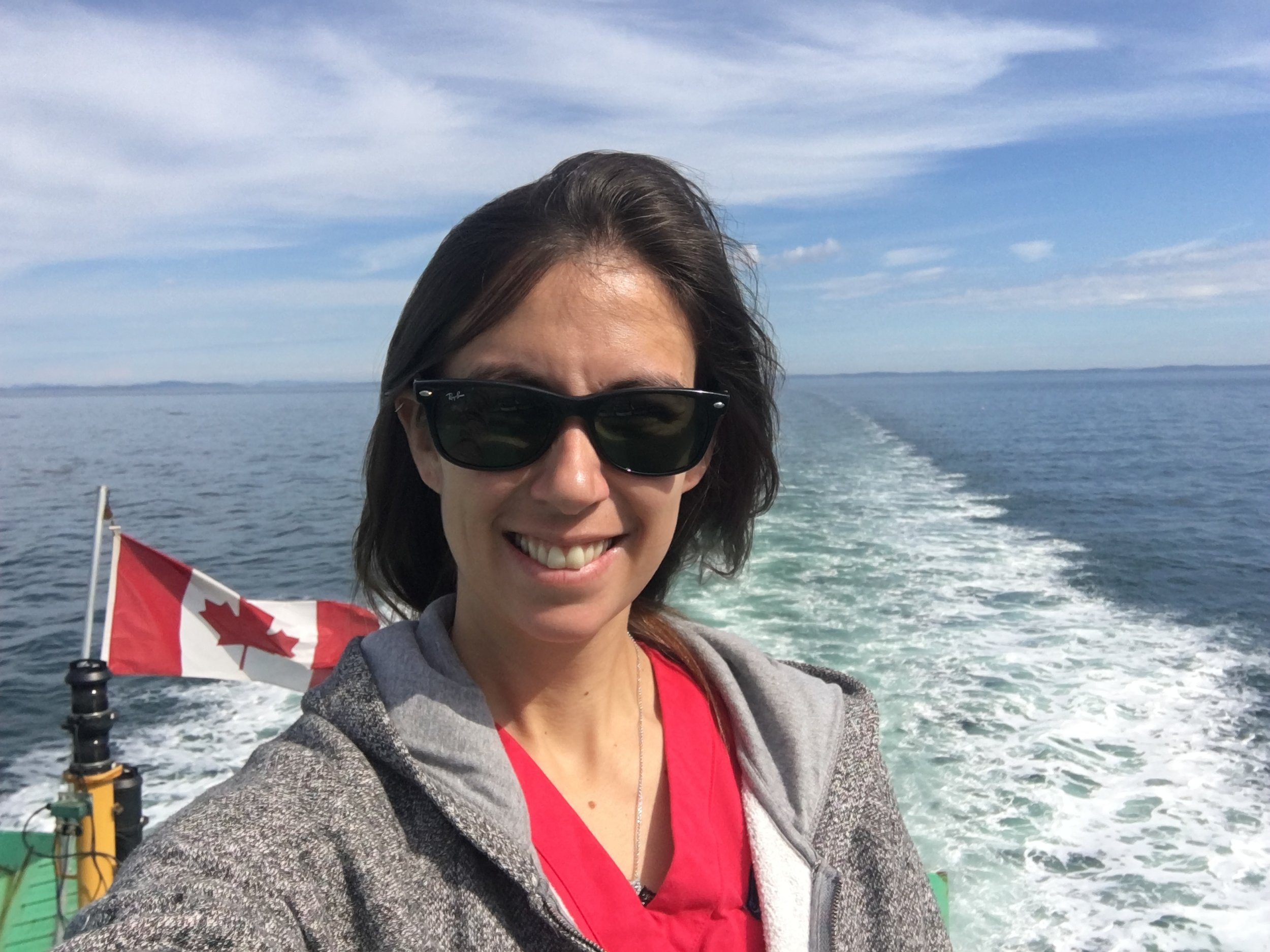 Megan was, in fact, with me on this trip but didn't last too long outside, as the open water does make her a bit queasy - but she loves Grand Manan so much that she quite cheerfully endures it!