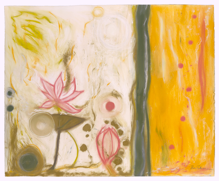 "Lotus One. Sherri Silverman. Pastels and pencil on paper. 2011. 29.5"" x 36.5""."