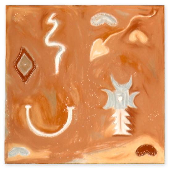 "Motherworld 3: Mawu. Sherri Silverman. 1990. Pastels and pencil on paper. 30"" x 29.5"". Collections Los Alamos National Bank, Santa Fe, NM."