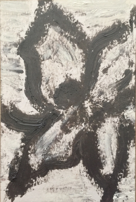 "Blossom in Pewter. Oil on paper. Sherri Silverman. 2018. 7.5"" x 5""."