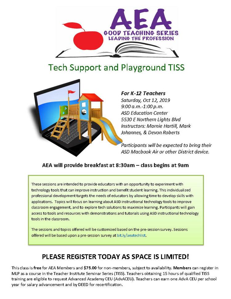 PD Class Flyer Oct 12_2019 Tech Support & Playground TISS.jpg