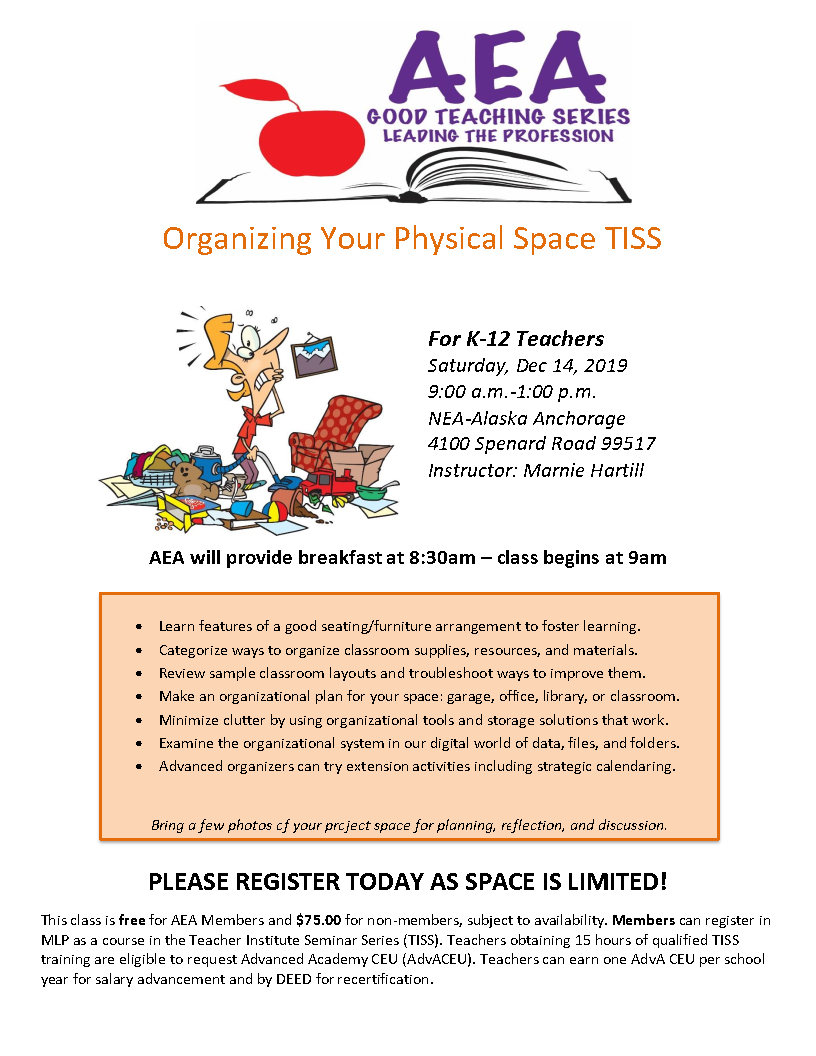 PD Class Flyer Dec 14_2019 Organizing Your Physical Space TISS flyer.jpg