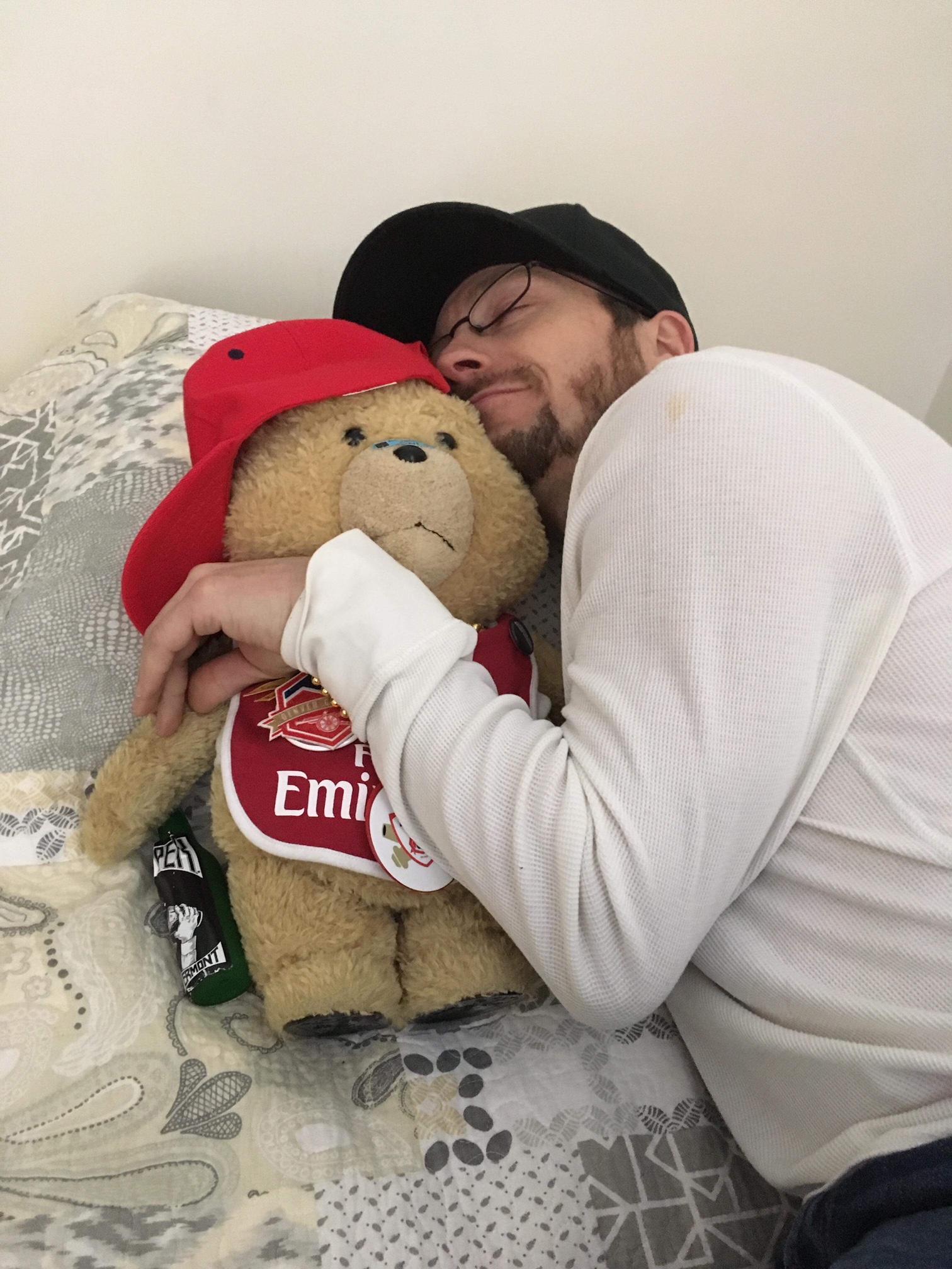 Cale understands the forbidden love between a man and a stuffed bear.