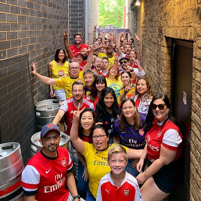 First three points of the season! We're back in the Gangway again! 🍻🍻 #chicagogooners #afc #gangwayofbrokendreams #arsenafc #coyg