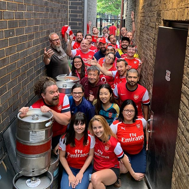 Another morning, another win!! 🍻✨ #coyg #chicagogooners #afc #arsenalfc #jamitinthere