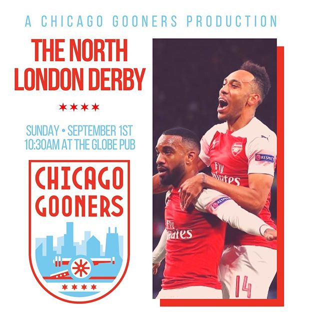 Coming to you live, this Sunday at @theglobepubchicago! 🍻 Who's going to be there? #NorthChicagoIsRed #arsenalfc #afc #chicagogooners #coyg #bpl