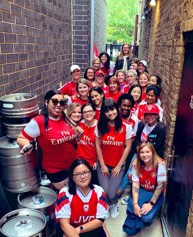 If nothing else, the Gooner Gals turned UP this weekend! 💃🏻 #arsenalfc #afc #coyg