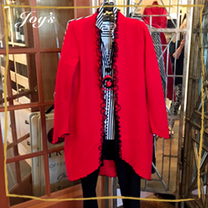 A Favorite - Red Boiled Wood Fall Jacket