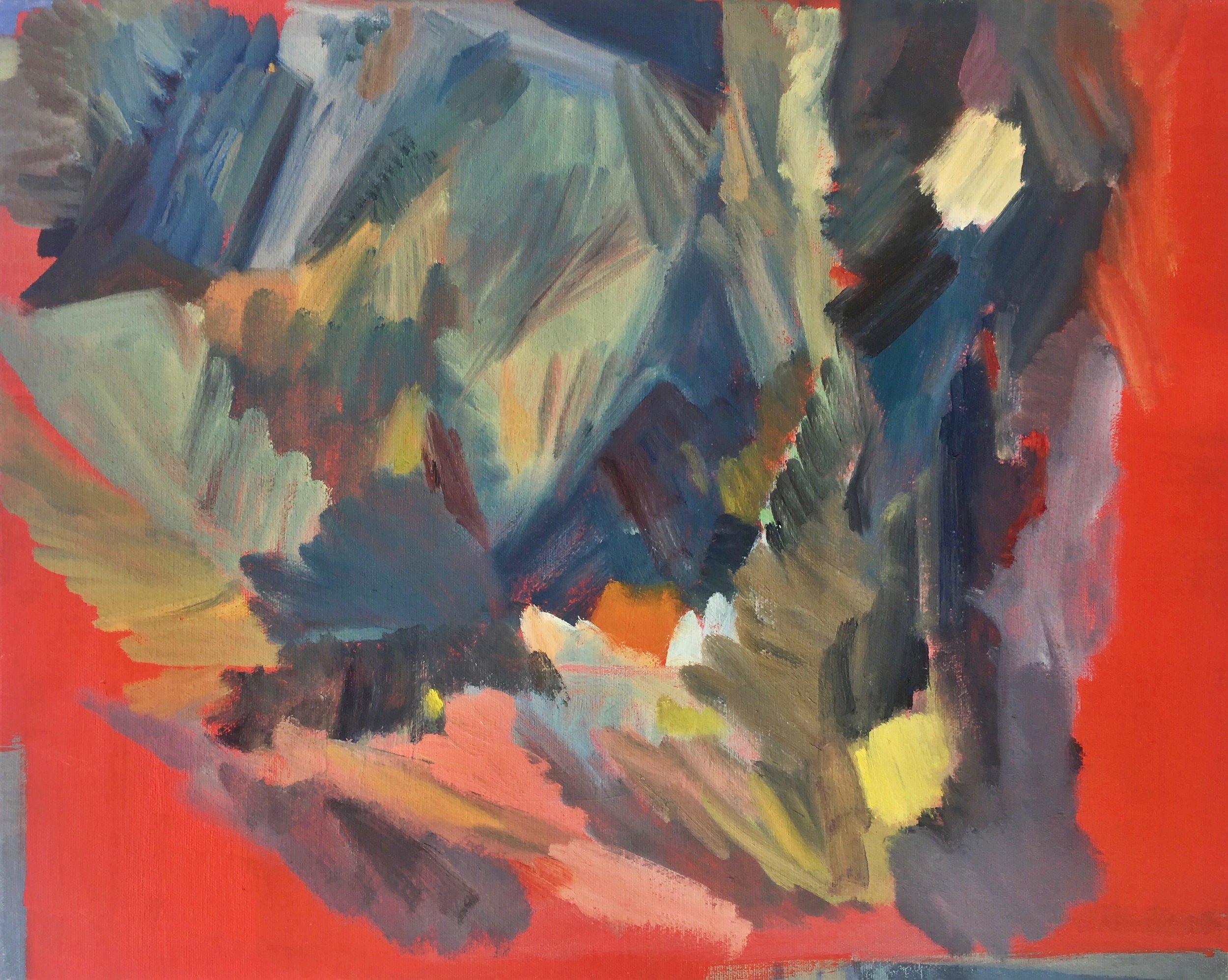 """Panola House   Oil on canvas  16 x 20"""""""