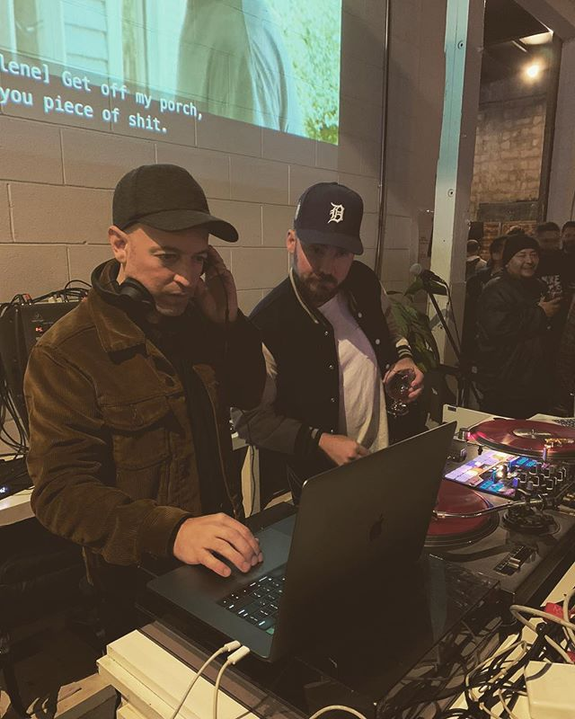 #tbt with @pntbtrwlf @boomtownbrewery 4 year party. Read the screen behind us.