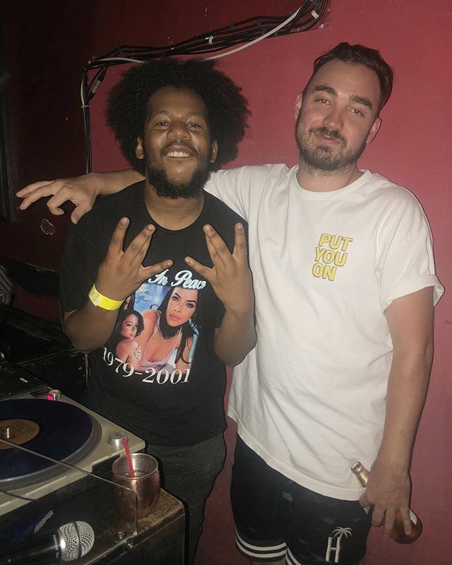 First time meeting @djchubbeswagg and my guy is a beast on the decks. Shout out @softshoeraps for the plug