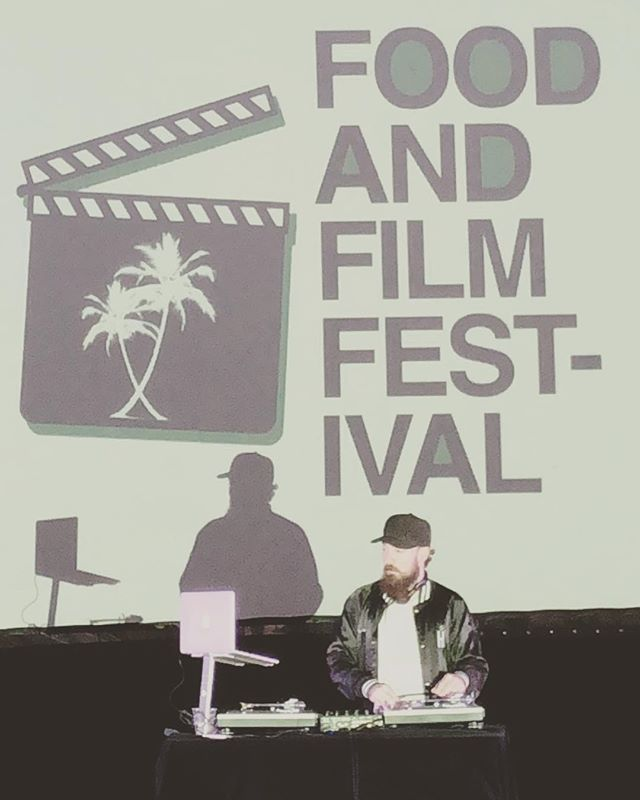 #tbt to the first @foodandfilmfestival I DJd. Back at it tonight, djn 6-830 then watching a personal favorite Friday with the @thehighsociety squad hit @foodandfilmfestival page for tickets