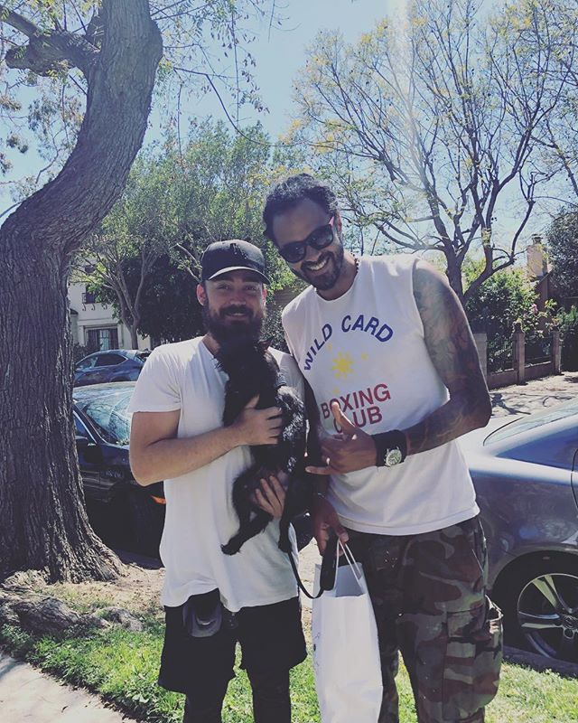 Just wanted to say thank you to everyone who reached out to help with the dog formally known as Gerald. Especially @atimeofday for helping me everyday for the past 2 weeks. Also thank you @maedayrescue for offering and pointing  me in the right direction. Could not have found a better fit for the newly named Marvin with my buddy @henribinje . Until next time Marvin 😭😭😭😭😭😭😭