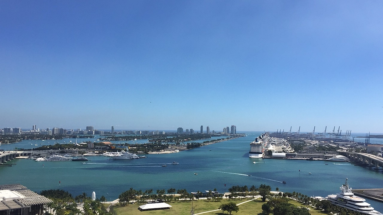 Biscayne Bay Port Miami Marquis Residences View
