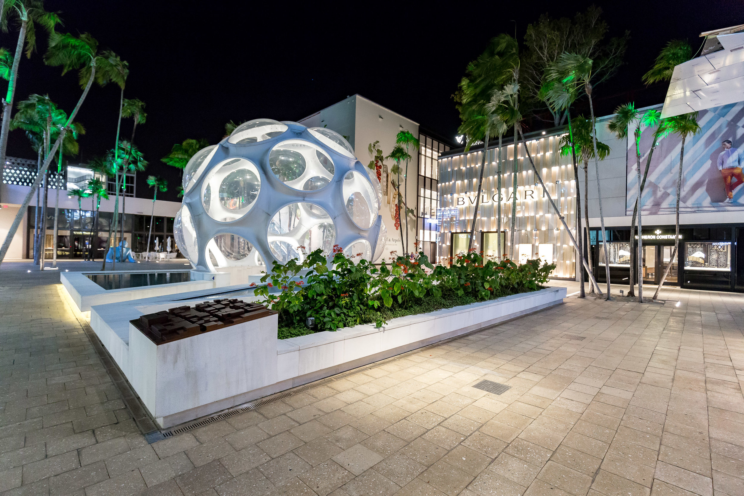 Palm Court in Miami's Design District