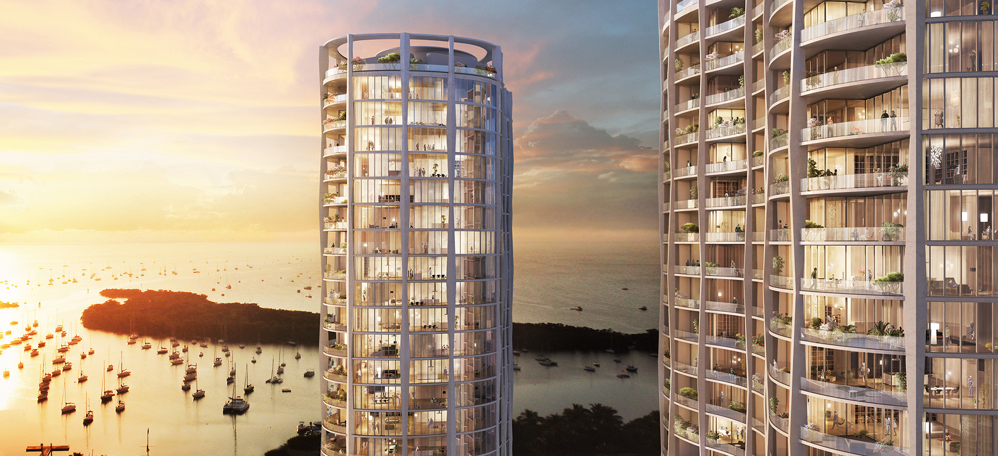 Park Grove Terra Group Related Group Coconut Grove OMA LEED Silver Rem Koolhaas Arquitectonica