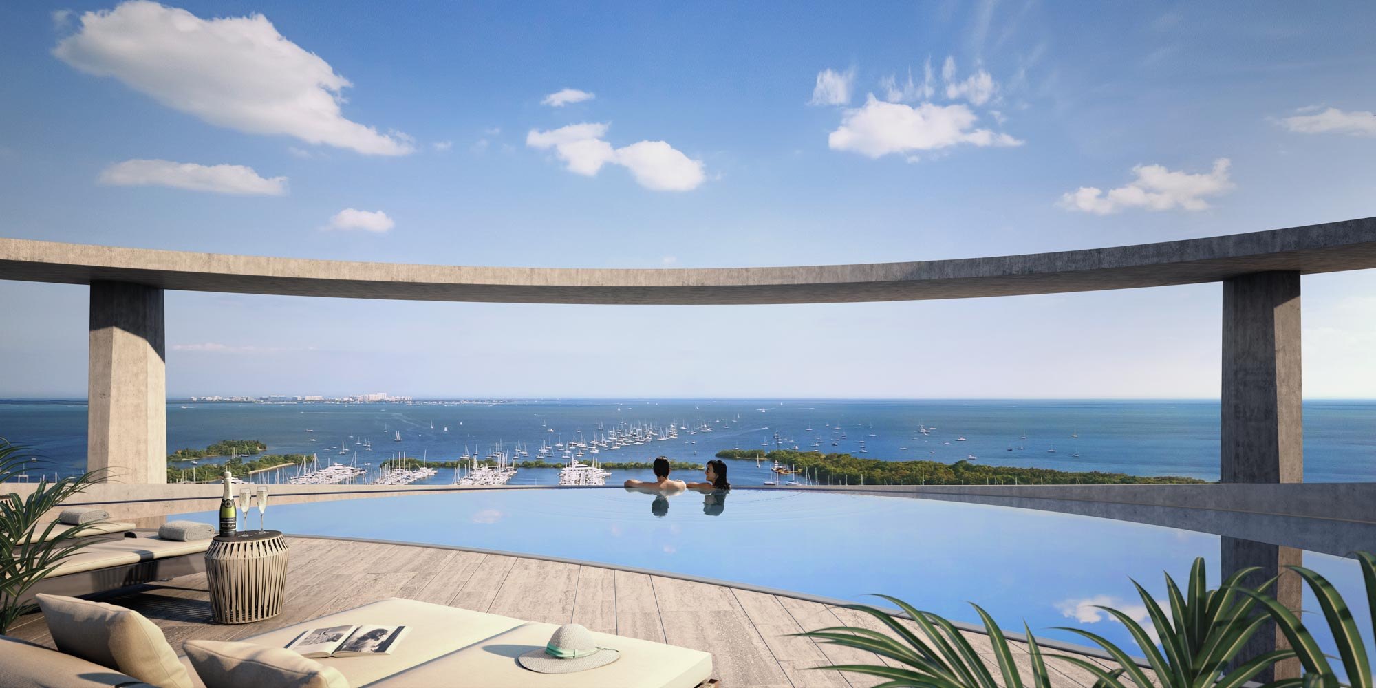 Park Grove Terra Group Related Group Coconut Grove Rooftop Pool