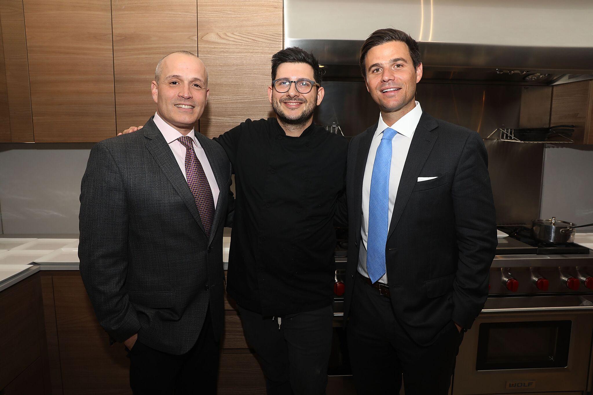 Oscar Rodriguez, Chef Giorgio Rapicavoli and Daniel de la Vega (shown left to right)
