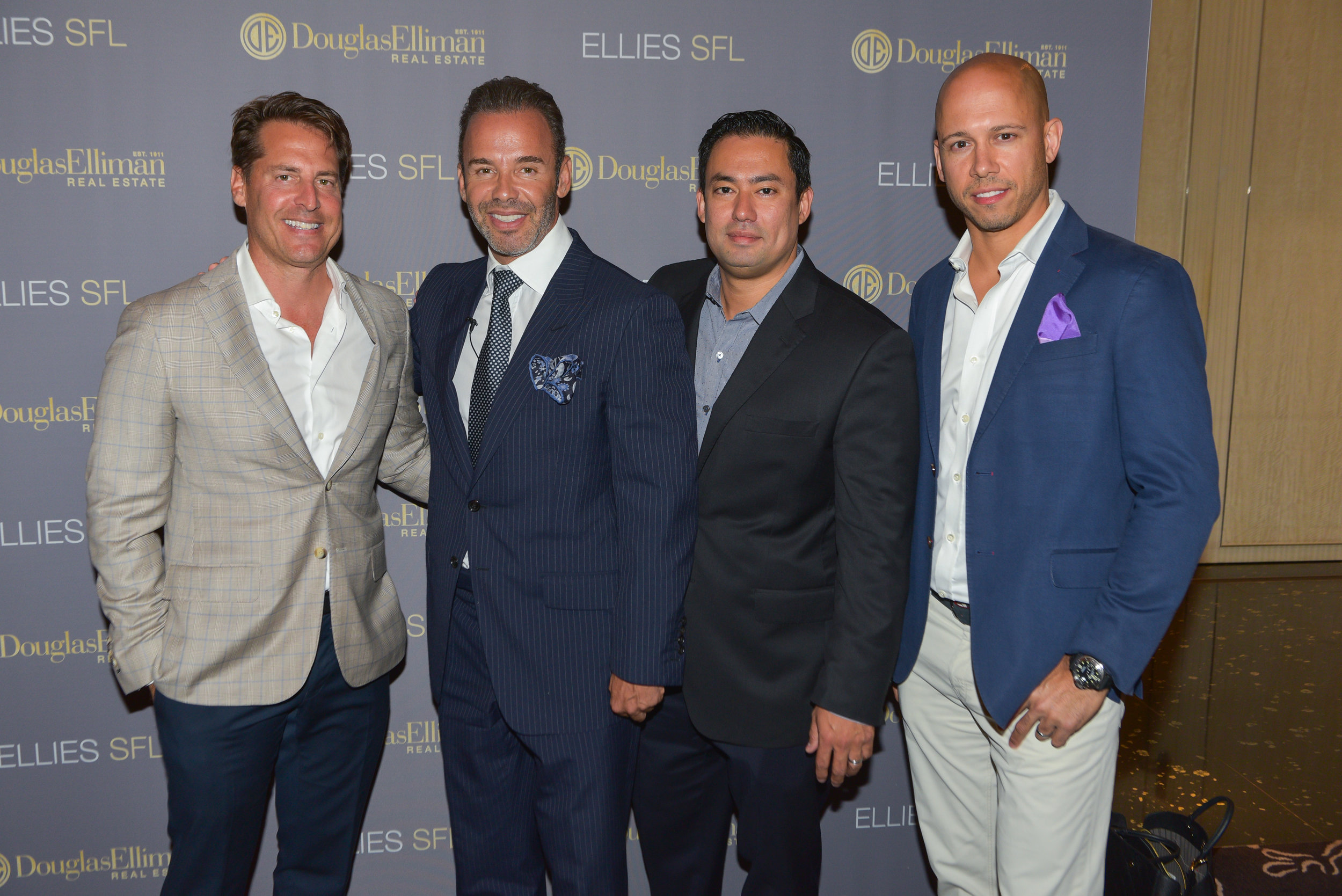 Douglas Elliman Honors Top Agents at The Florida Ellie's, Their Annual Awards Show_Brett Harris_Jay Parker_Bill Hernandez_Bryan Sereny.JPG