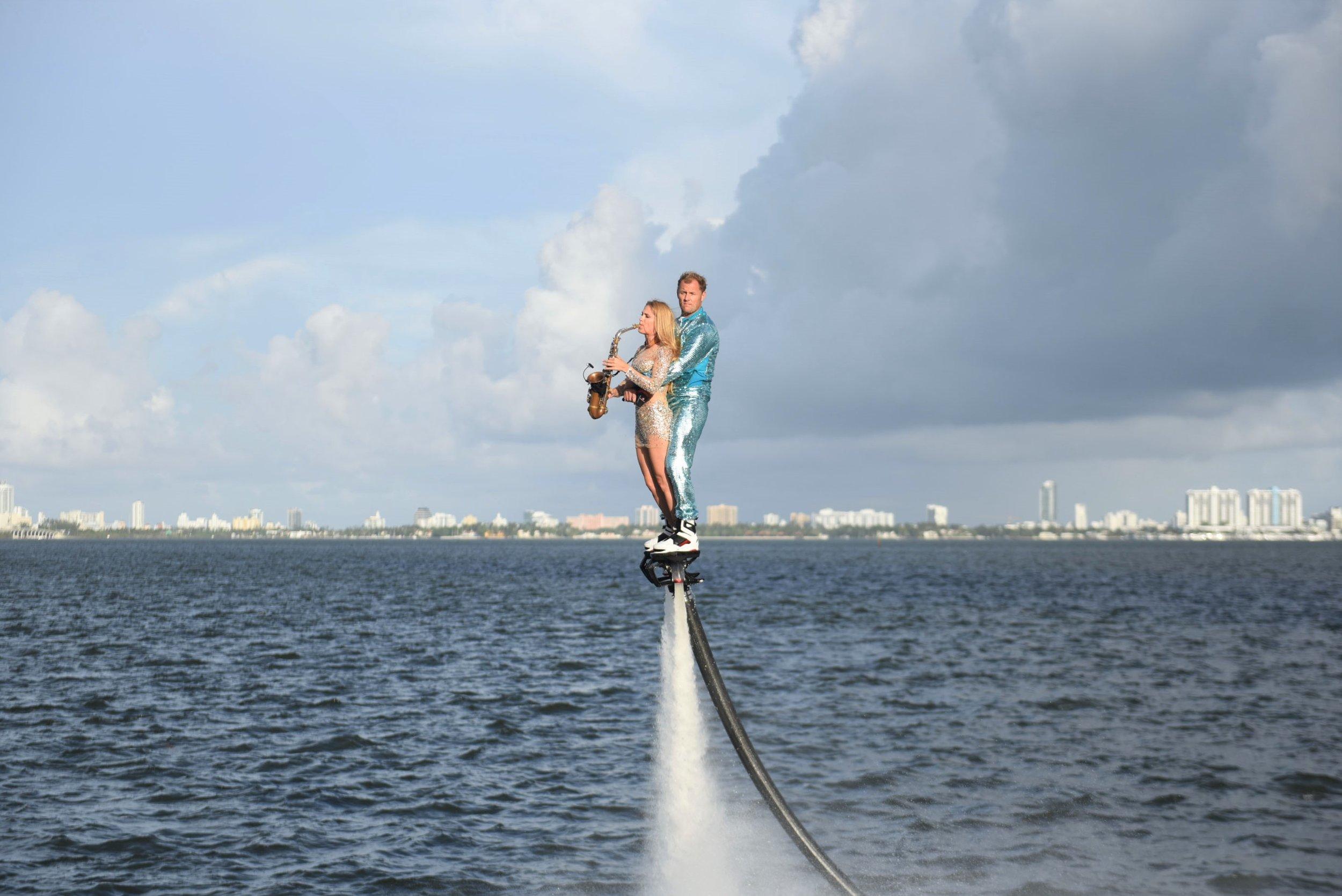 Vladislav Doronin's Oko Group Breaks Ground on  Missoni Baia Edgewater in Style Missoni Baia Miami Residences Flyboard and Saxophone Performance.jpg
