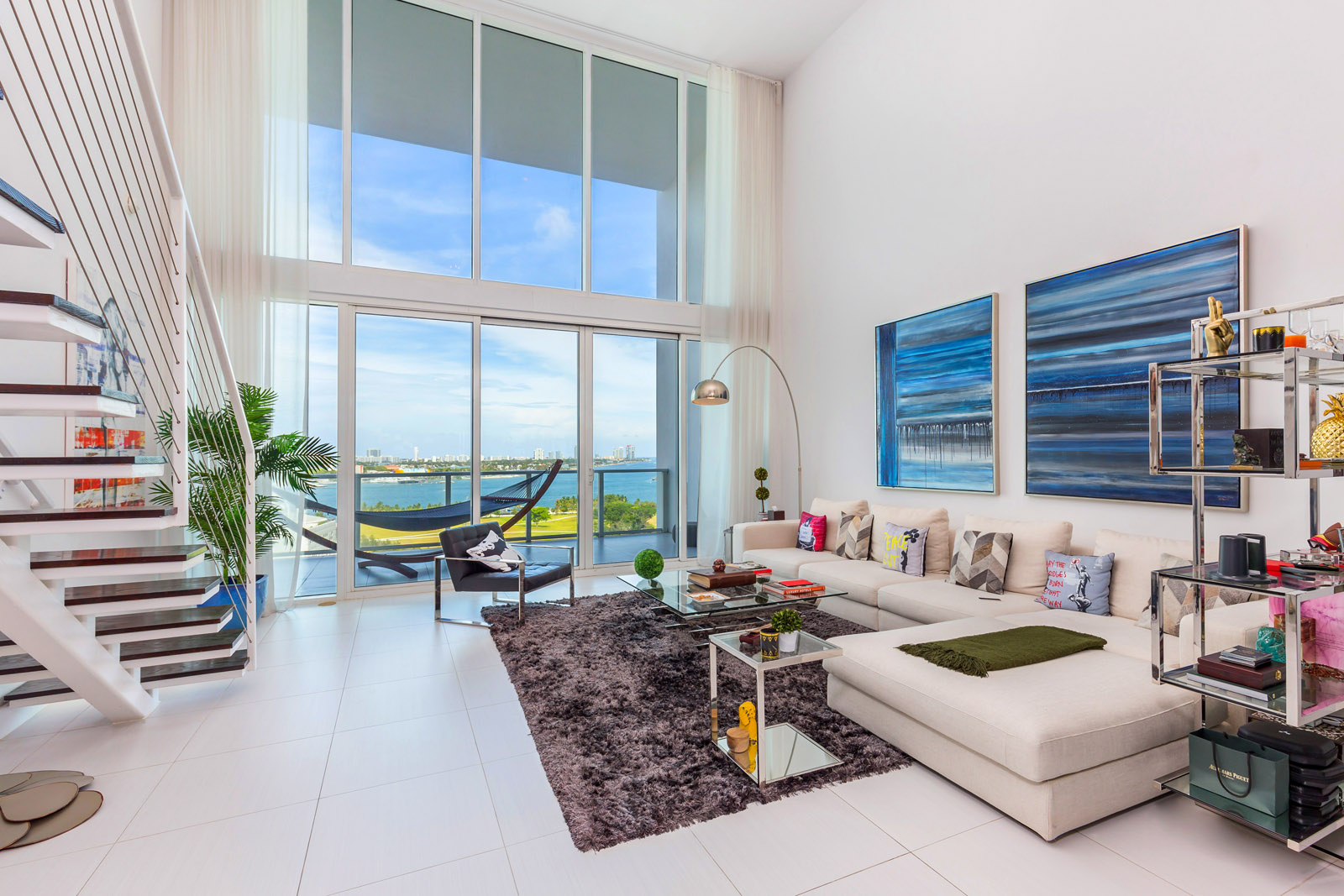 Featured Listing: Step Inside A Modern, Luxe Loft In Downtown Miami With Dropdead Beautiful Views of Biscayne Bay