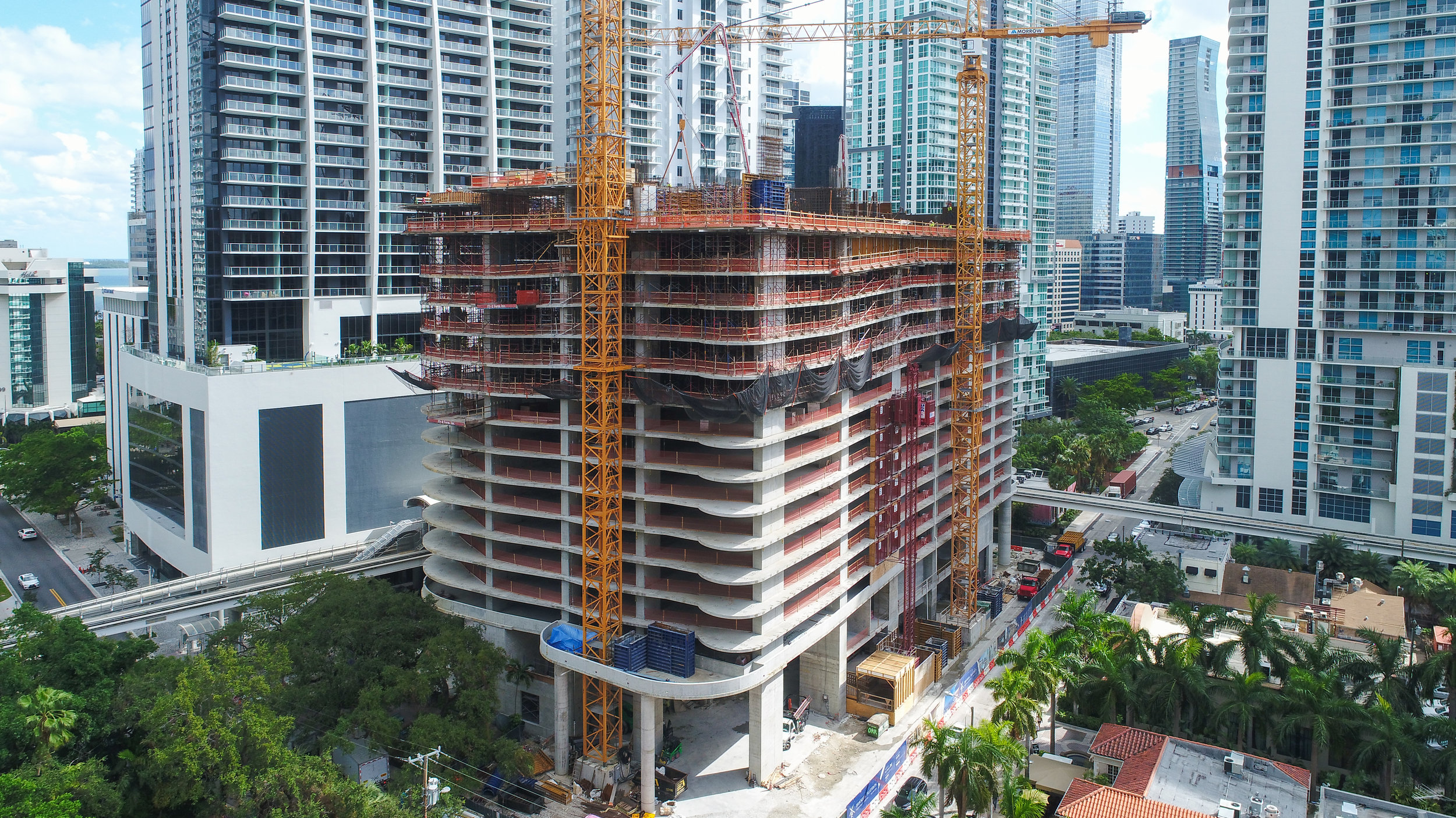 Construction Update: Ugo Colombo's Brickell Flatiron Releases New Drone Video As Vertical Rise Reaches 17th Floor