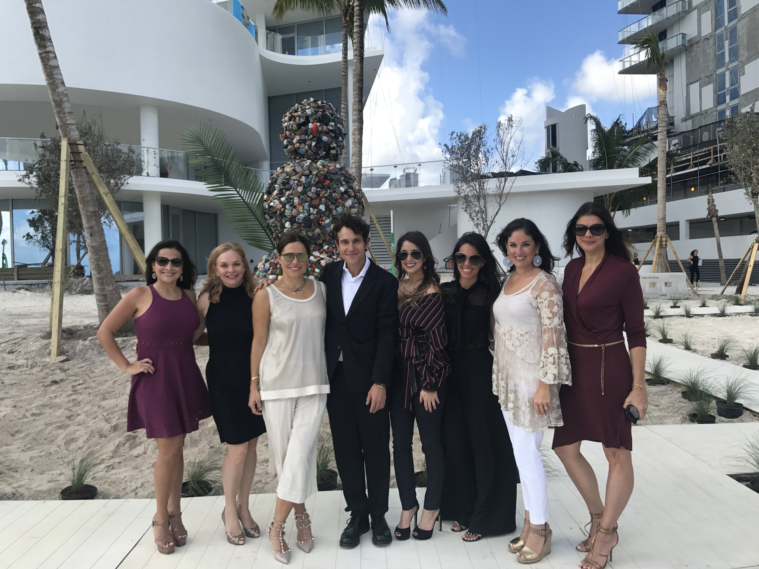 Jade Signature Sales Team along with artist Daniel Knorr