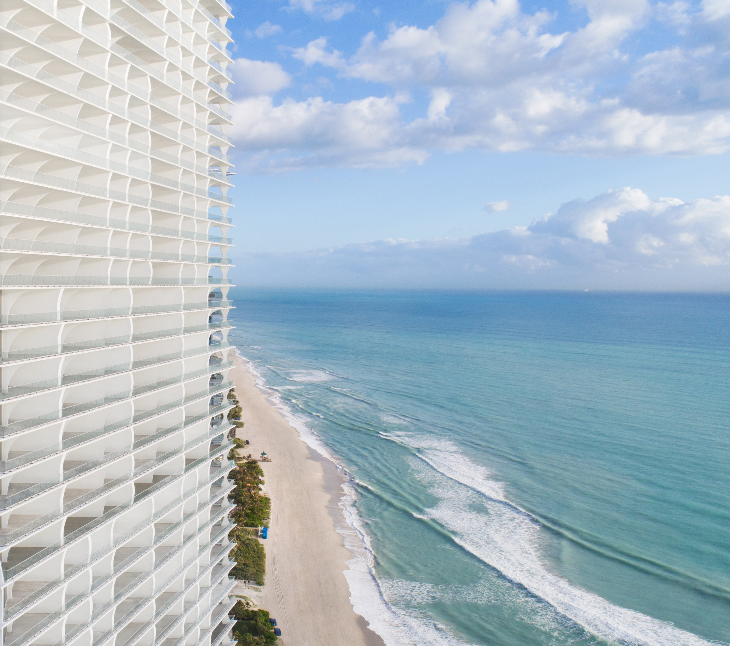 Check Out The Stunning Drone Images Of The Newly Delivered, Herzog & de Meuron-Designed Jade Signature in Sunny Isles Beach