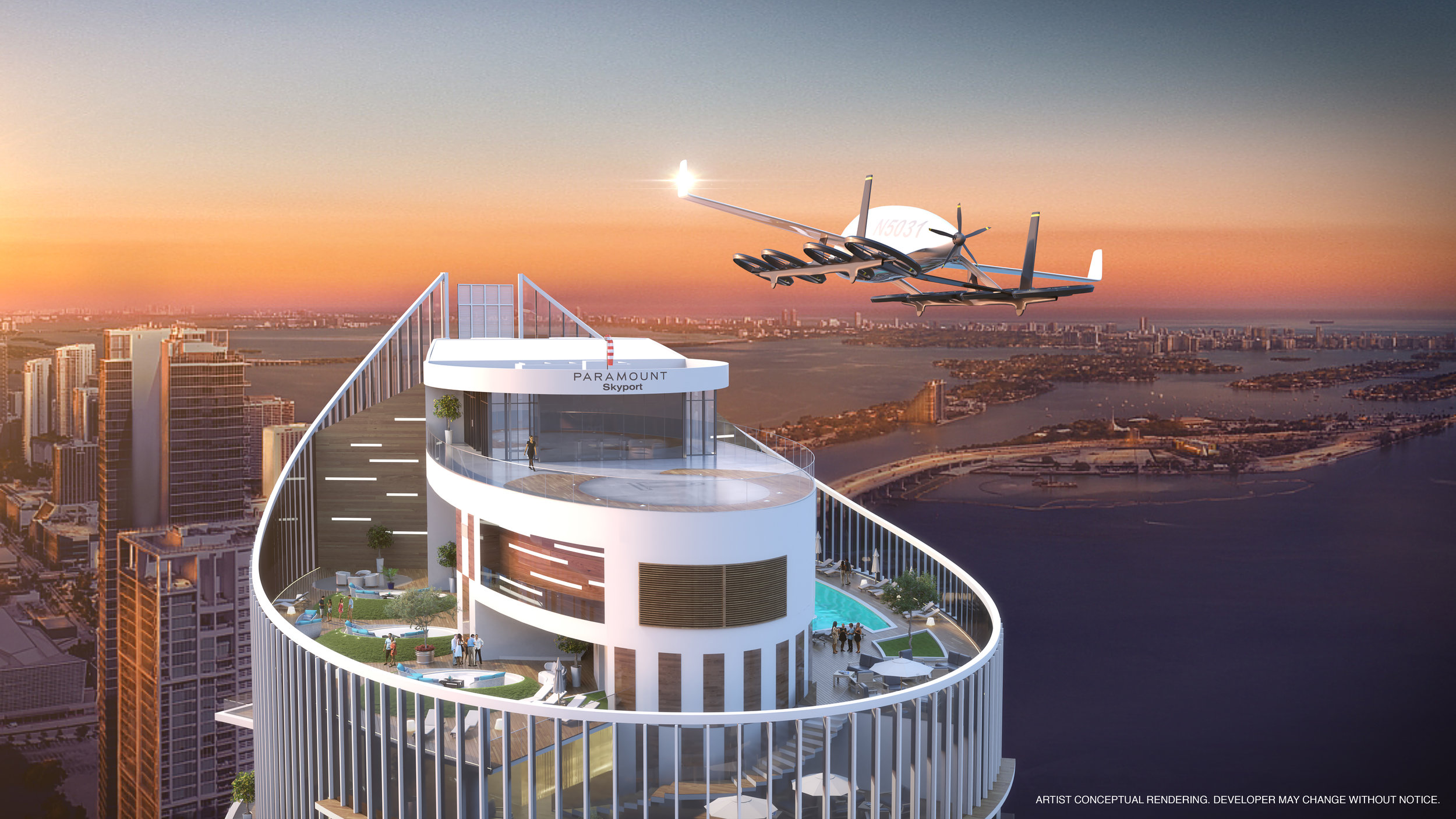PARAMOUNT Miami Worldcenter Rolls Out Rooftop Skyport in Anticipation of Urban Aviation