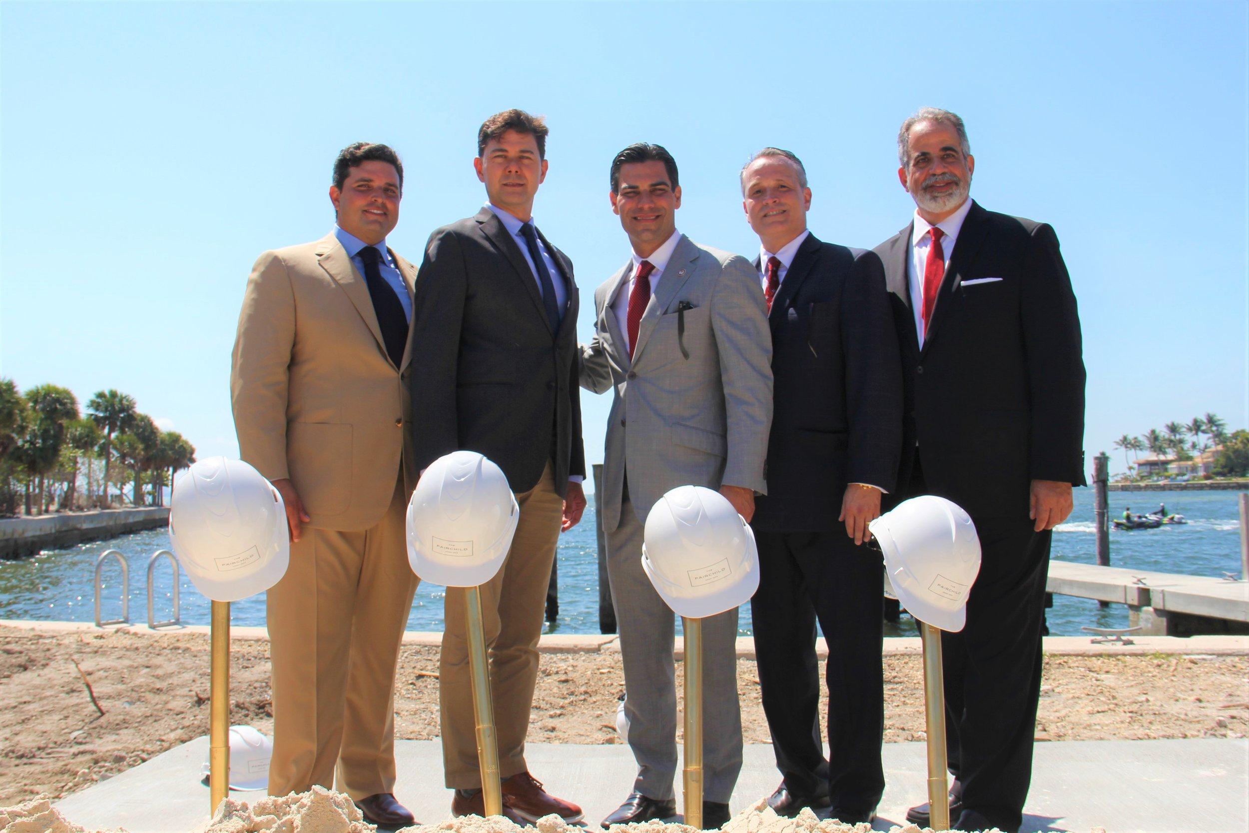 Ricardo Vadia, Commissioner Ken Russell, Mayor Francis Suarez, Oscar Rodriguez, Ralph Gonzalez Jacobo