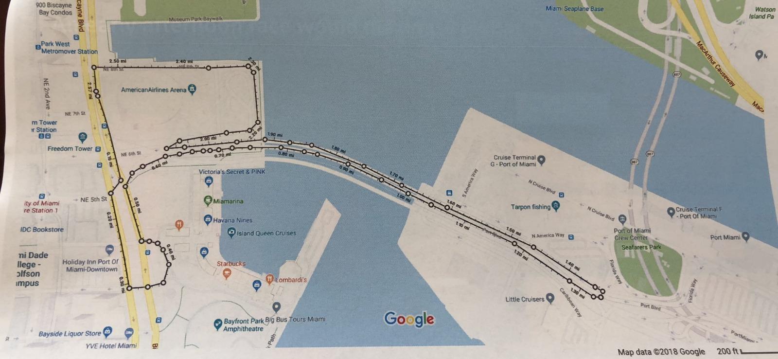 The proposed track for the 2019 Miami Grand Prix