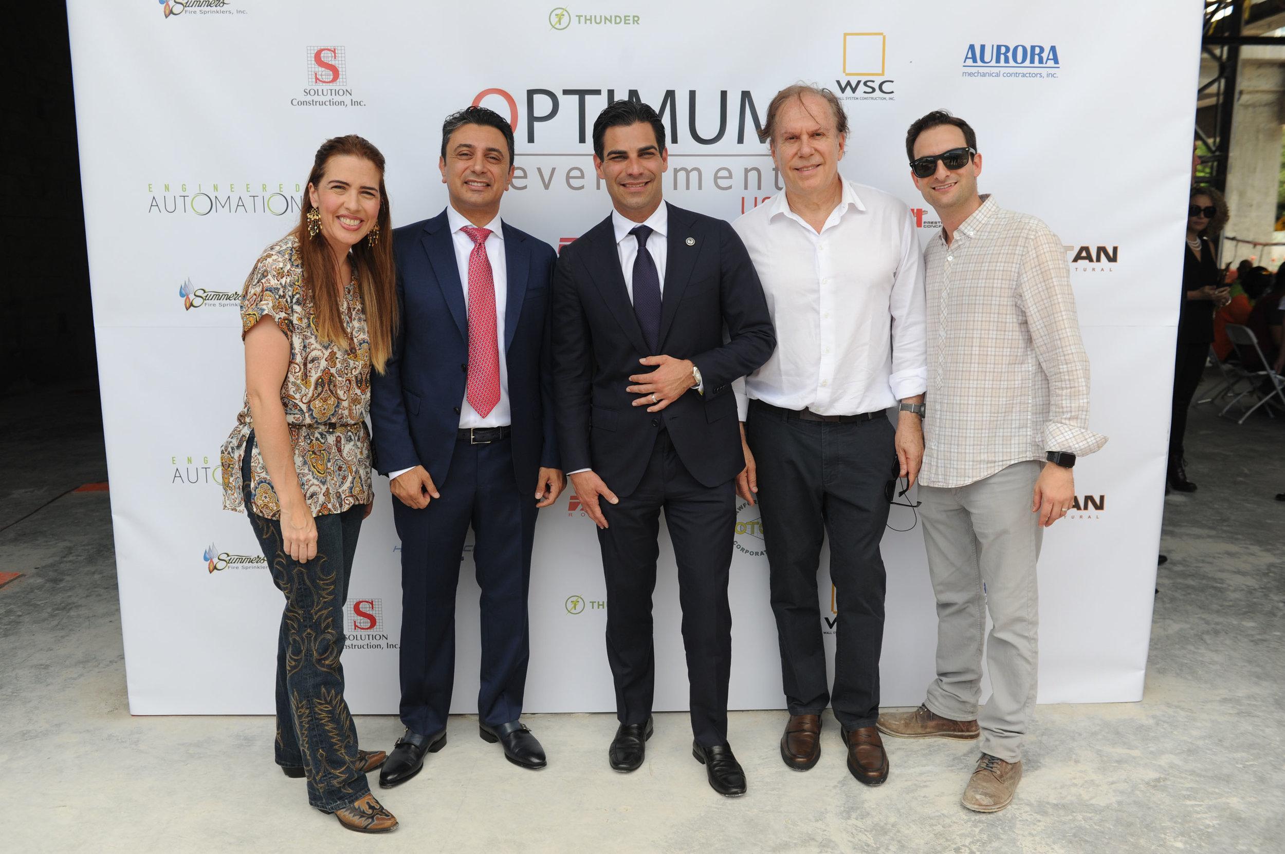 Raquel Regalado, Ricardo Tabet, Mayor Francis Suarez, Bernardo Fort-Brescia, & Eric Helitzer