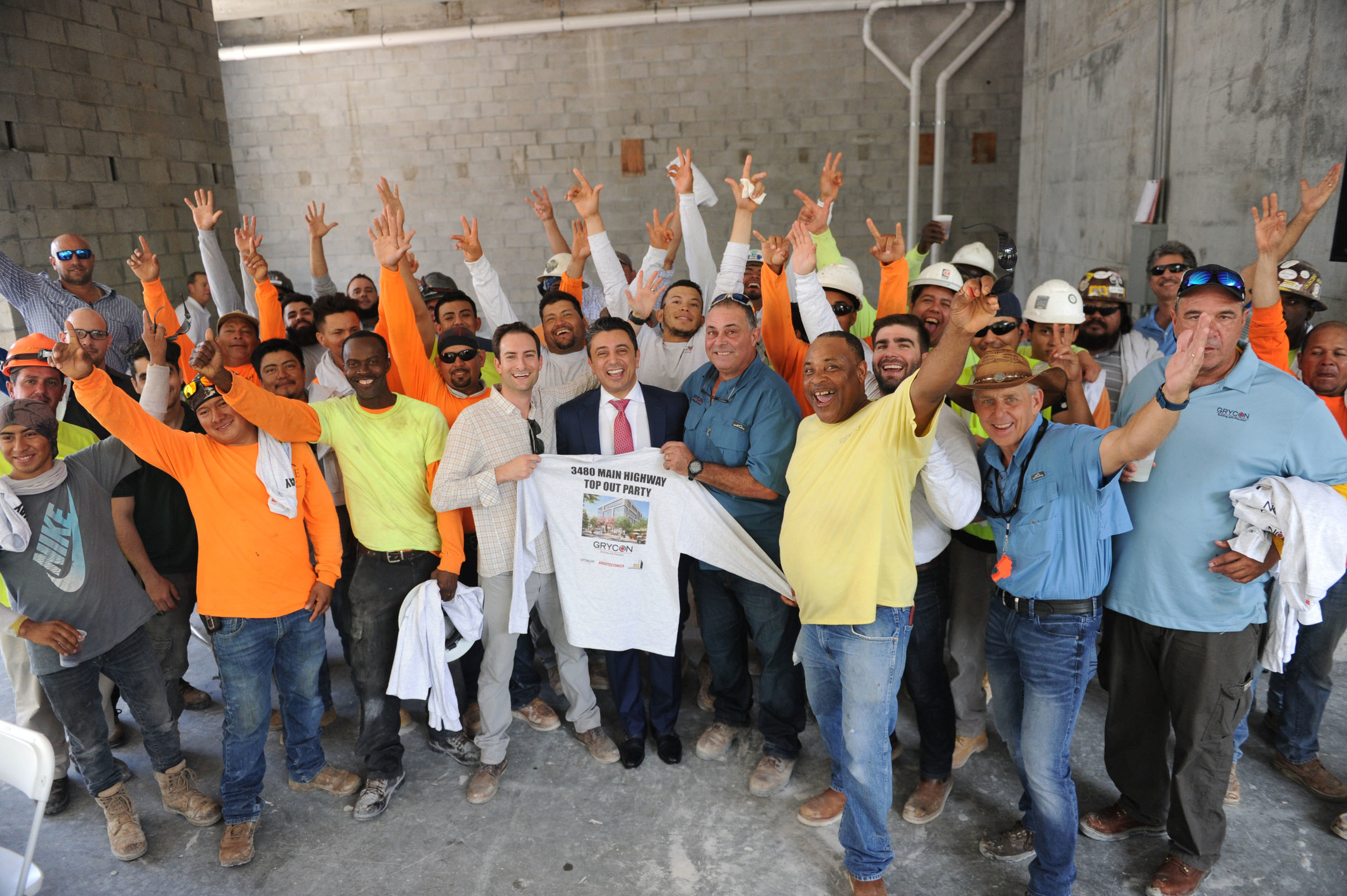 Ricardo Tabet & Crew The Optimum Tops Off In Coconut Grove, The Neighborhood's First New Class A Office Building In 25 Years.jpg