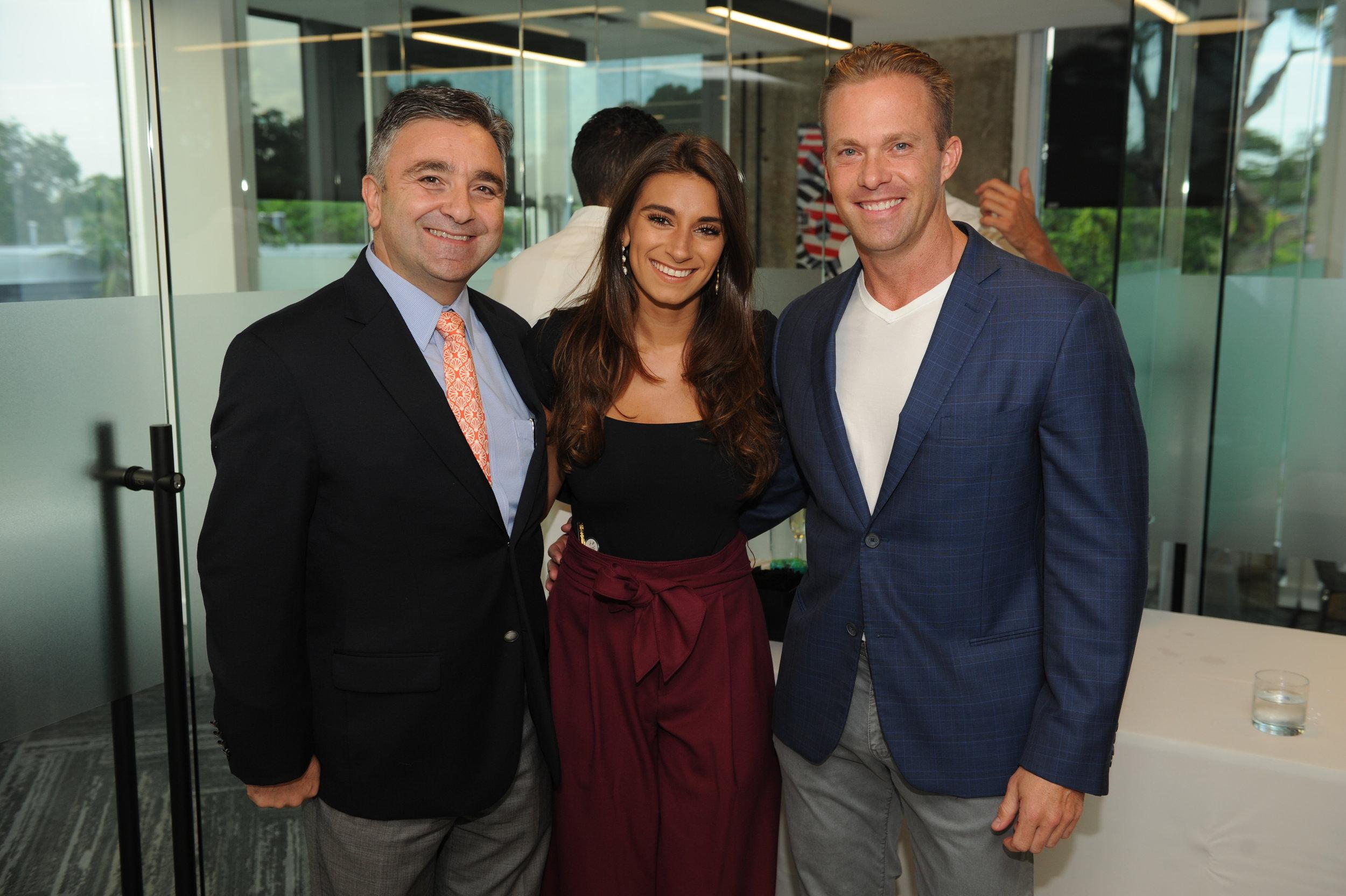 Imad Akhrass, Rachel Goldstein, & Darin Tansey