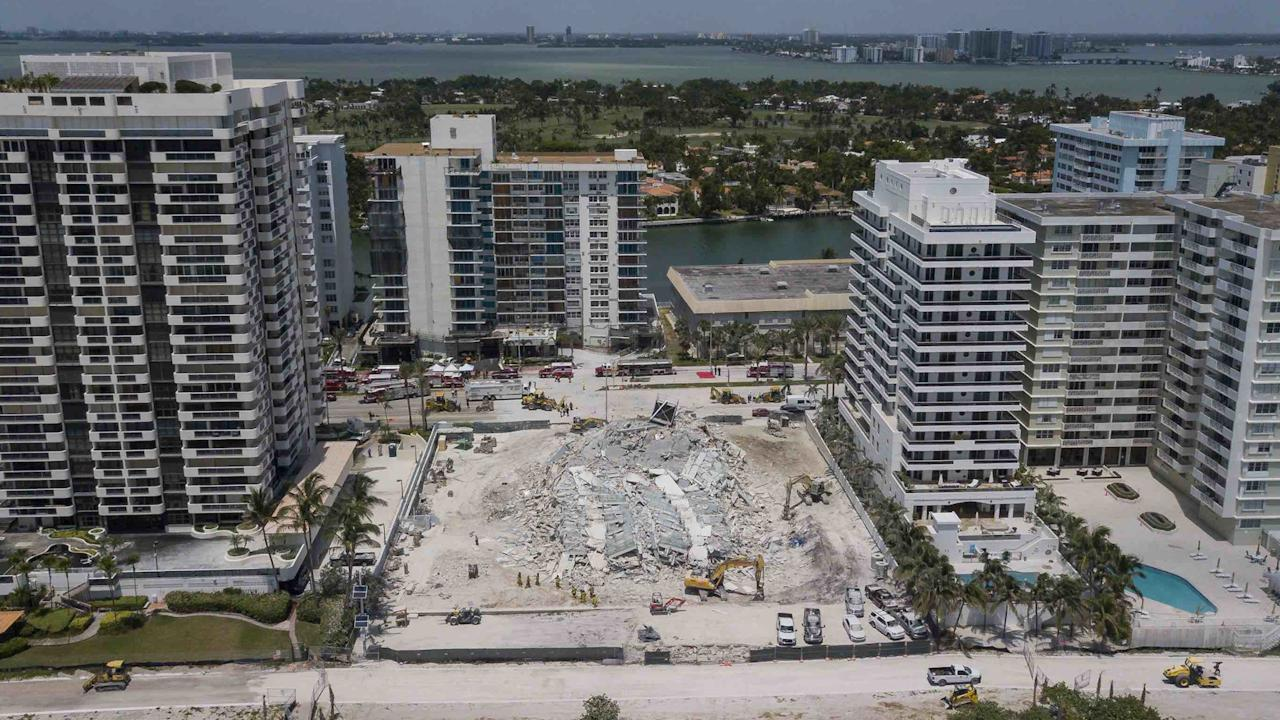 Inside The Building Collapse At The Future Site Of Brazillian Billionaire Jose Isaac Peres' 5775 Collins Ave In Miami Beach