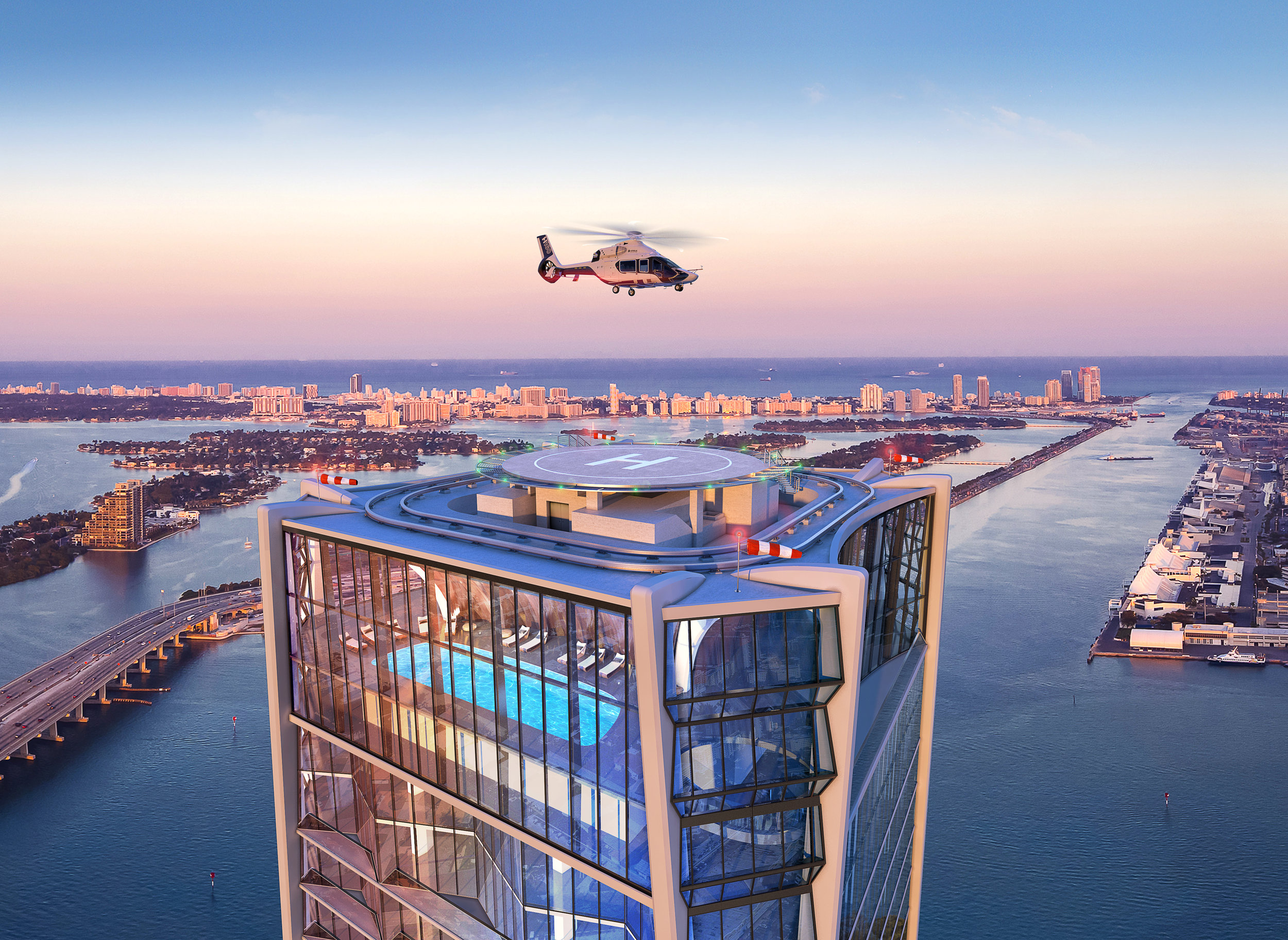 Zaha Hadid's One Thousand Museum Reveals The East Coast's Only Private Rooftop Residential Heliport