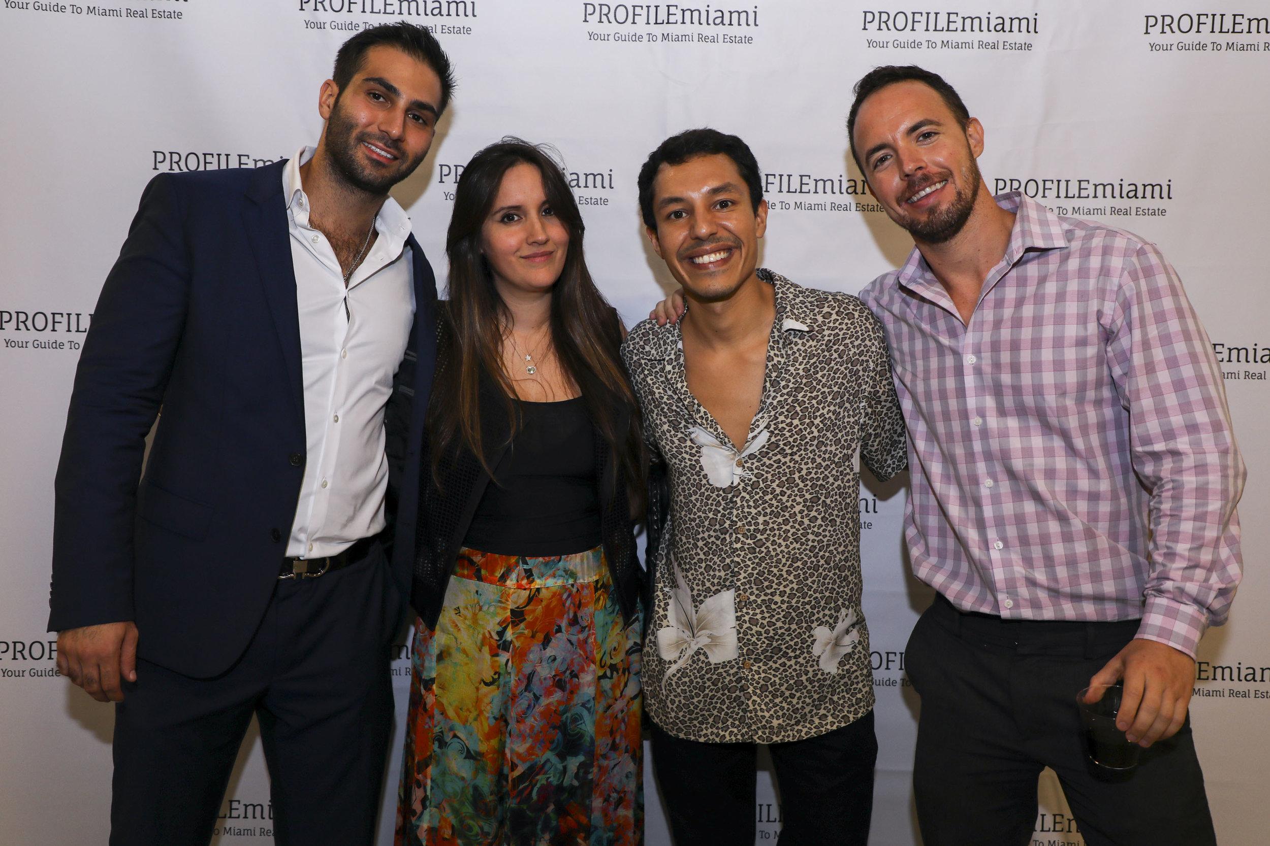 Demetri Demascus, Diana Uribe, David Miranda and Drew Tucker.