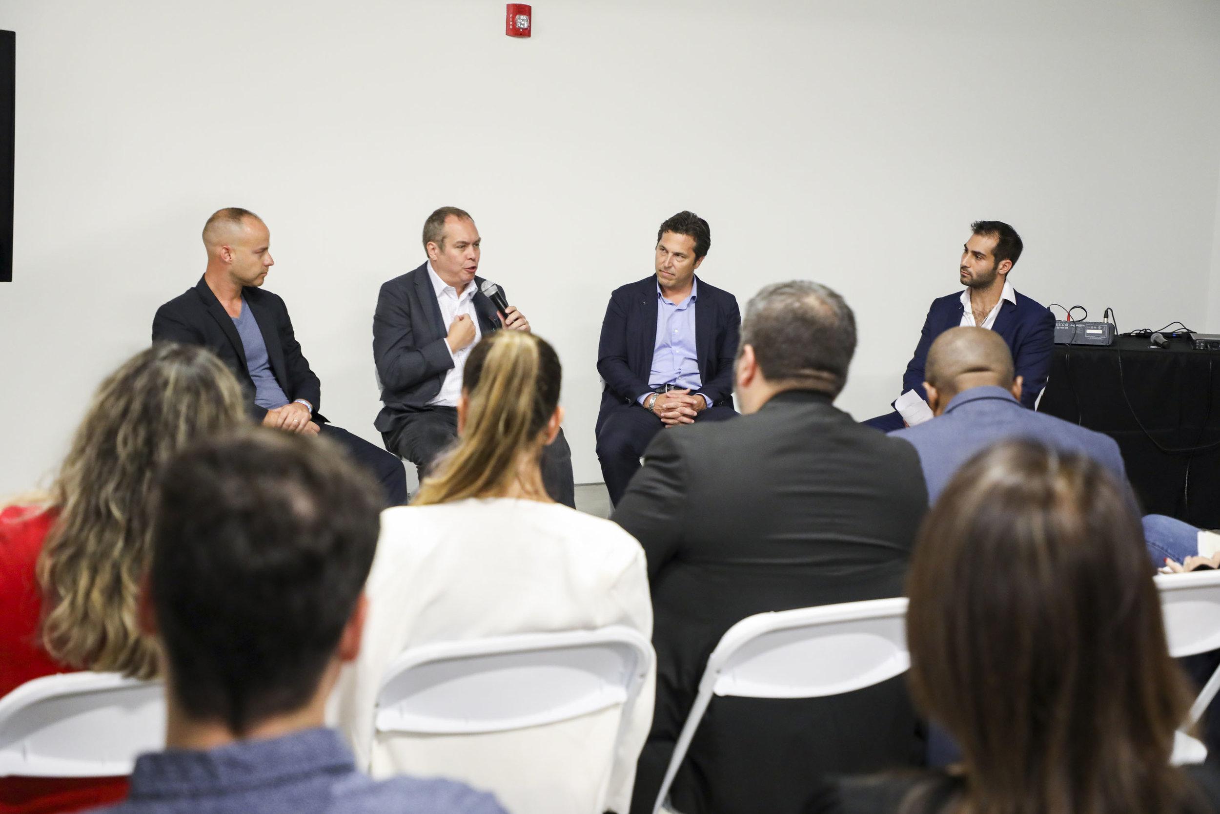 Jeremy Waks, John Cardello, Martin Pinilla, & Demetri Demascus Inside The PROFILEmiami Fall Real Estate Showcase & Forum 2018