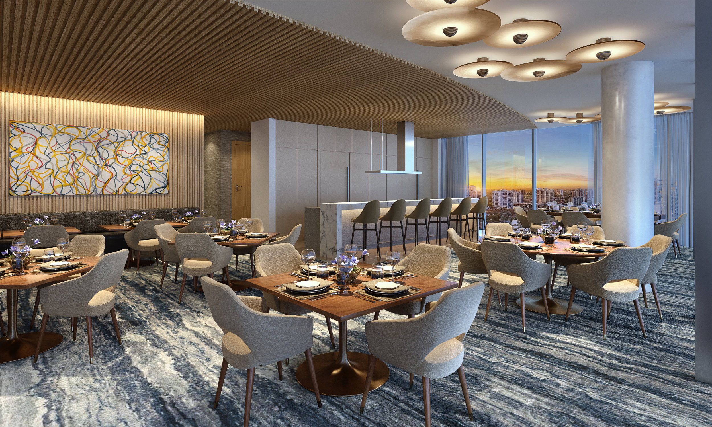 Sky Club's Private Dining and Event Space