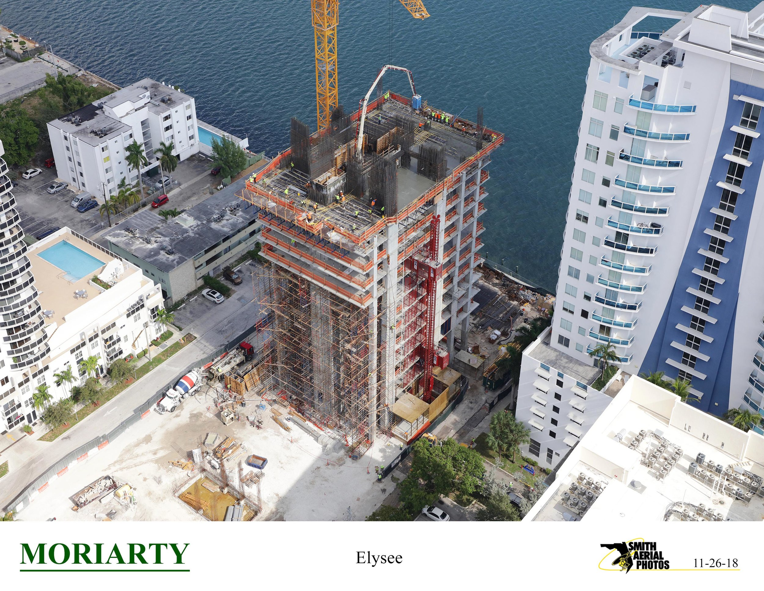 Construction On Two Road Development's 57-Story Elysee Miami Passes 18th Floor In Edgewater