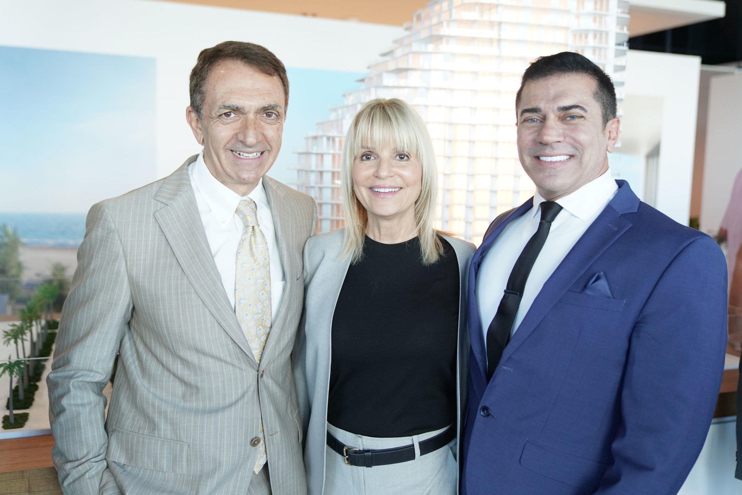 Mayor Dean Trantalis, Caprice Weber, & Dan Teixeira
